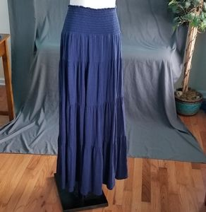 Old Navy navy blue smock waist maxi skirt XL